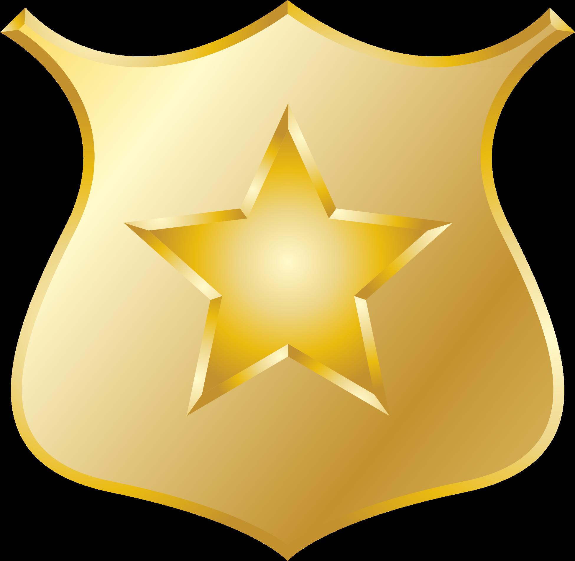 Gold police badge icon ?-Gold police badge icon ?-14