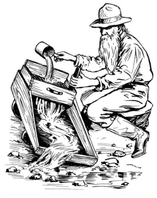 Gold Rush Clip Art | Free Printable Western Coloring Pages and Sheets for Kids and Adults