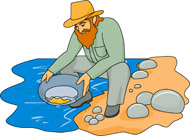 Gold Rush panning for gold animation. Size: 227 Kb From: History