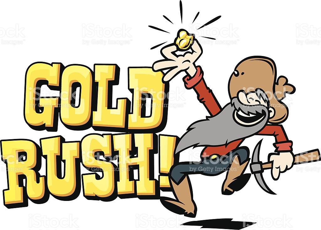Gold Rush Text royalty-free stock vector art