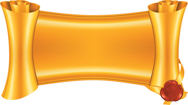 Gold scrolls clip art free .