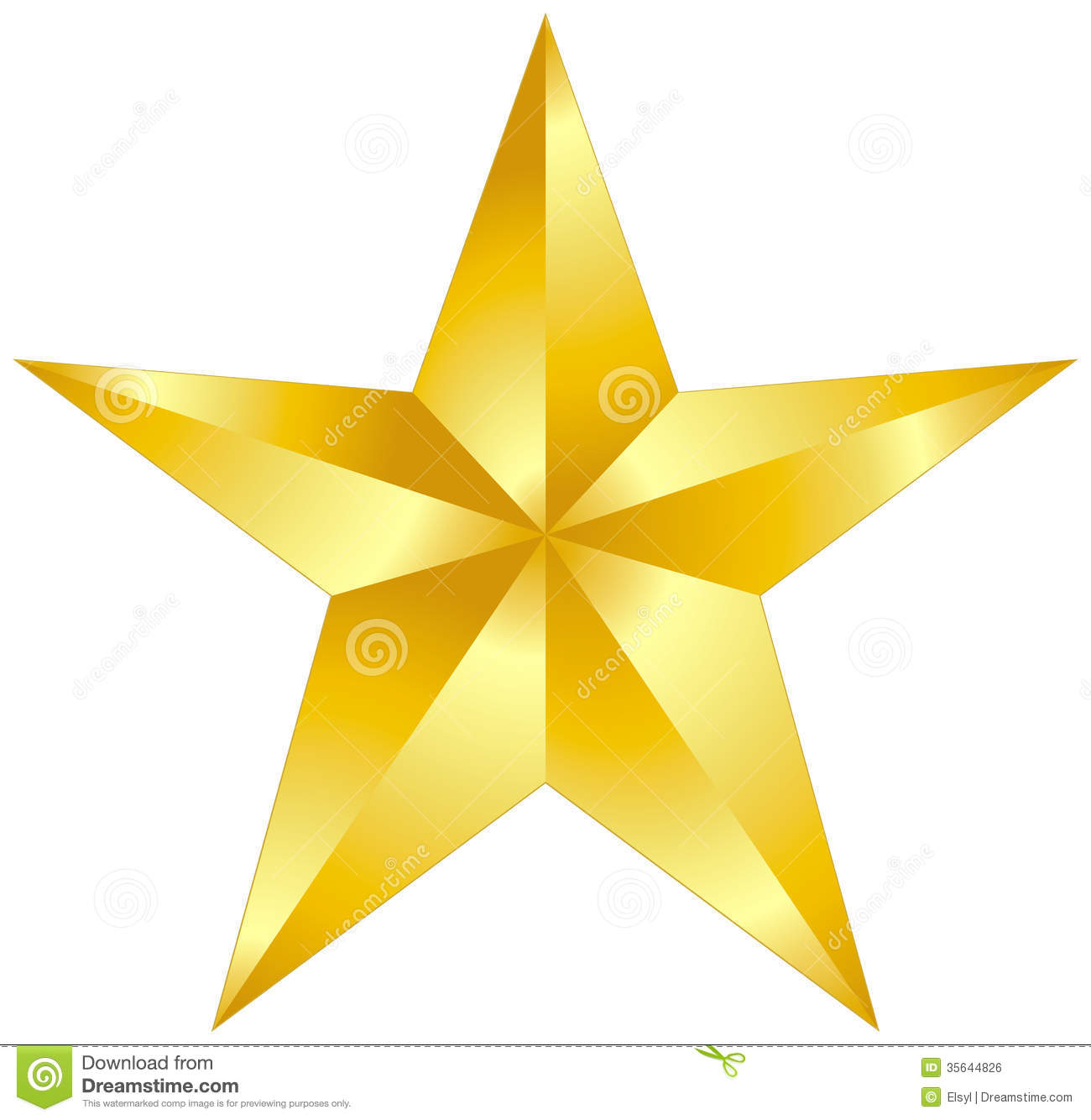 Gold Star Royalty Free Stock .-Gold Star Royalty Free Stock .-14