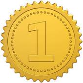 Golden award first place medal