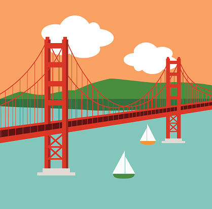 Golden Gate Bridge Clip Art, Vector Images u0026amp; Illustrations - iStock 418 x 412
