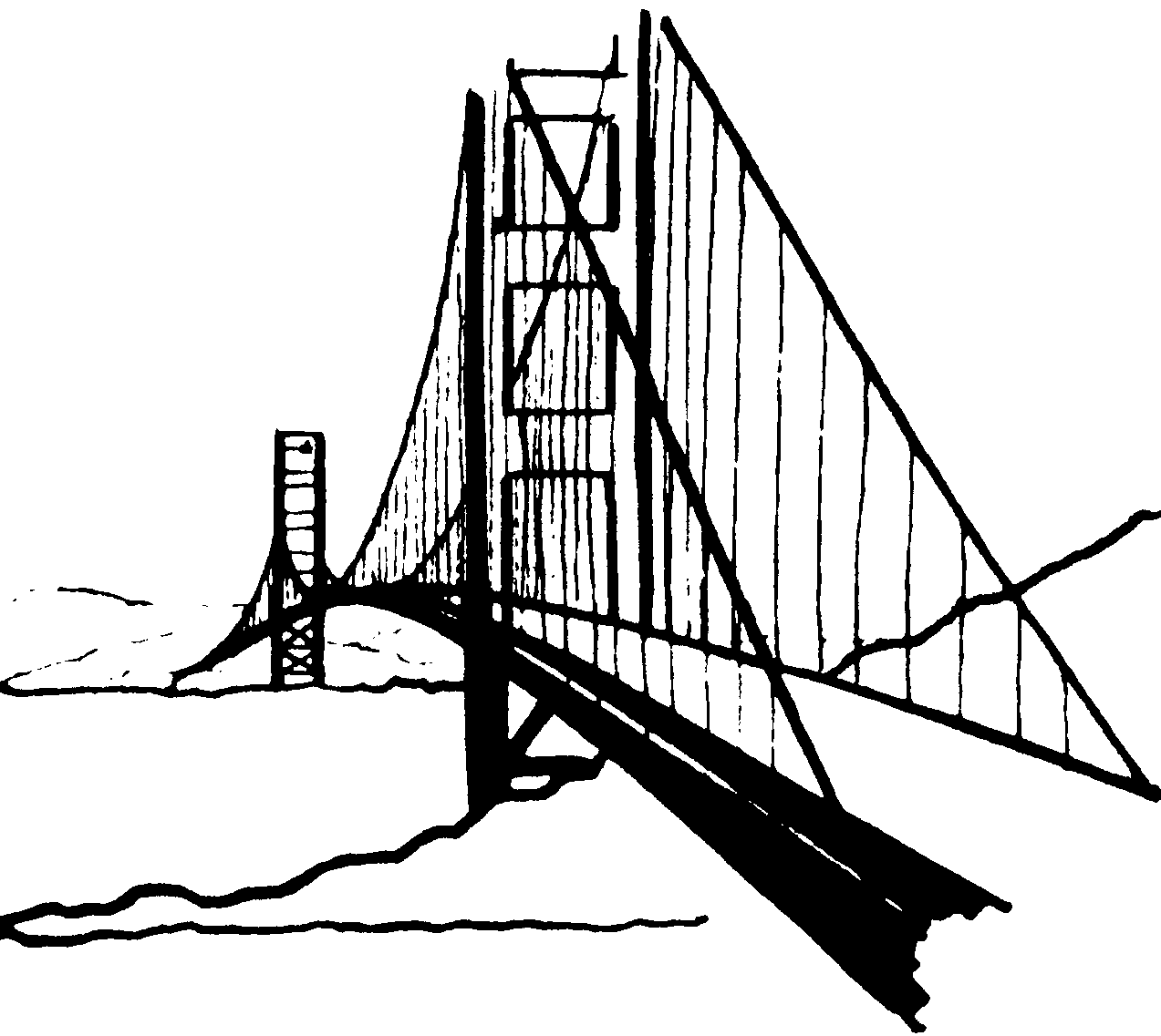 Golden Gate Bridge Clipart Cliparts Co
