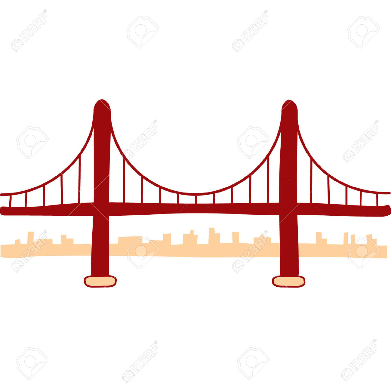 Golden Gate Bridge Clipart - .