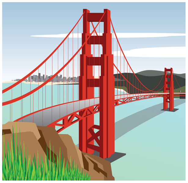 Golden Gate Bridge Clipart Golden Gate Bridge Vector