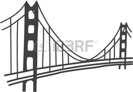 golden gate bridge: illustration of Golden Gate bridge, San Francisco