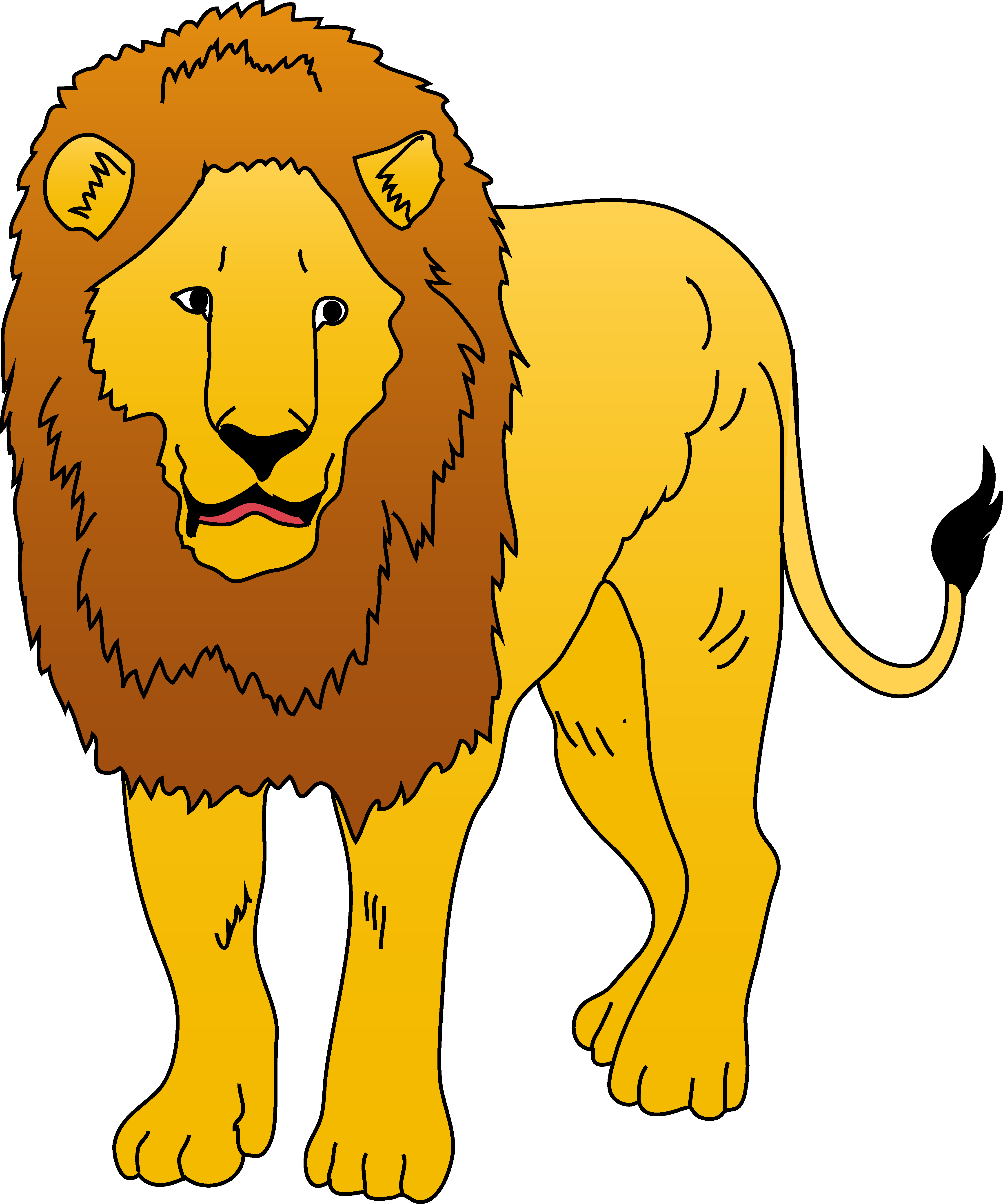 Golden Lion Clipart Illustration Free Cl-Golden lion clipart illustration free clip art-6