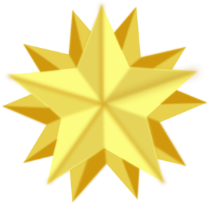 Golden Star Clip Art At Clker Com Vector Clip Art Online Royalty