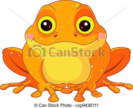 Golden Toad - Fun zoo. Illustration of cute Golden.