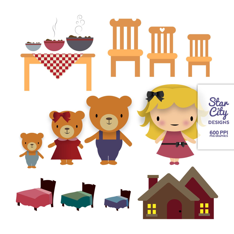 Goldilocks And The Three Bears Clipart #-Goldilocks And The Three Bears Clipart #1-6