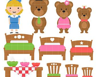 Goldilocks And The Three Bears Digi Tal -Goldilocks And The Three Bears Digi Tal Clip Art For Scrapbooking Card-8