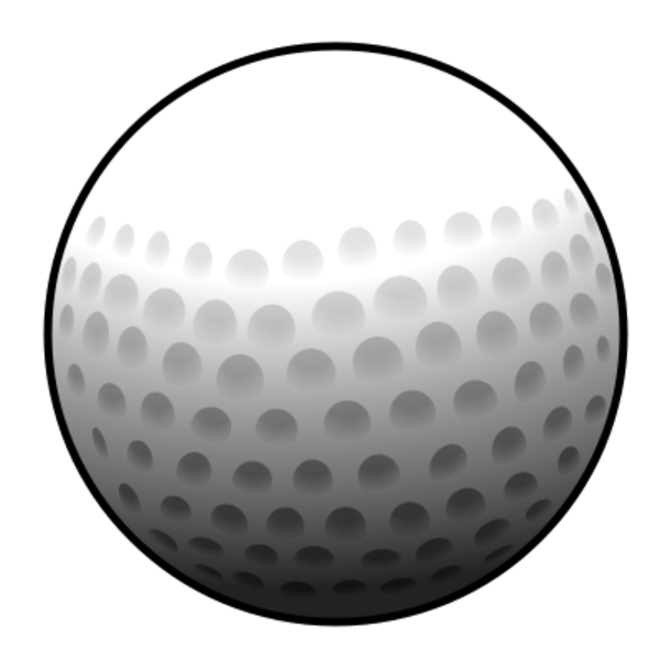golf ball clip art free vector