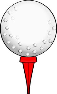 golf ball on tee with% . - Golf Tee Clip Art