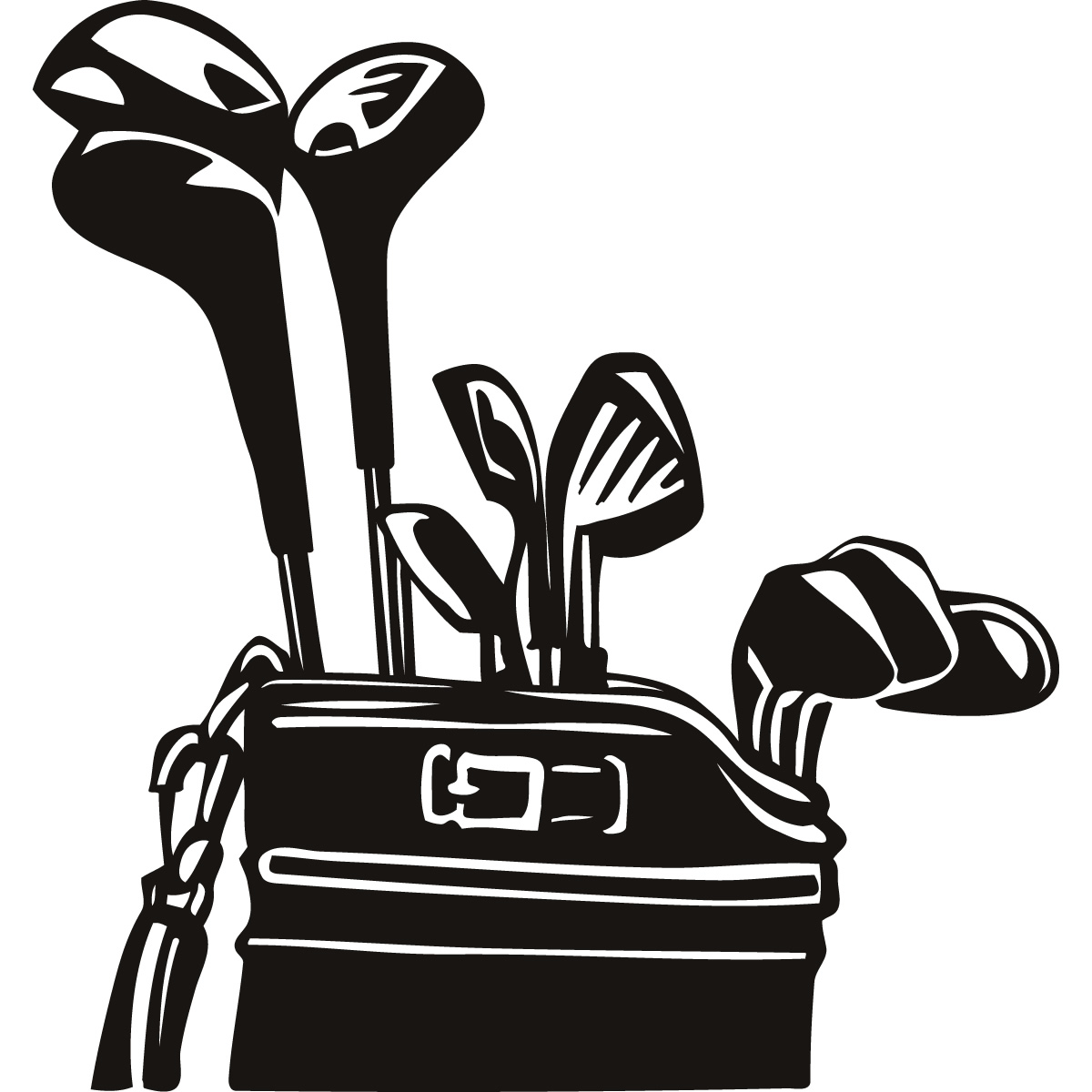 golf club bag clip art - Golf Bag Clipart