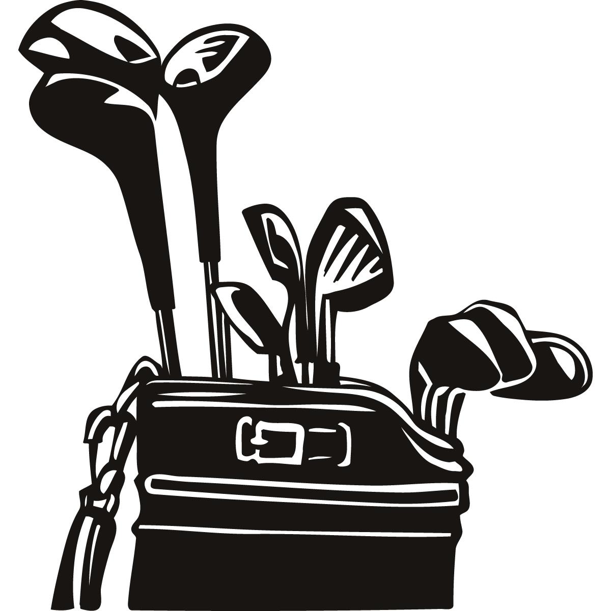 golf bag: Golf Bag Cartoon Ch