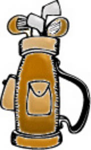 golf club bag clip art - Golf Bag Clipart