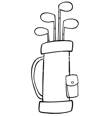 golf club bag clip art