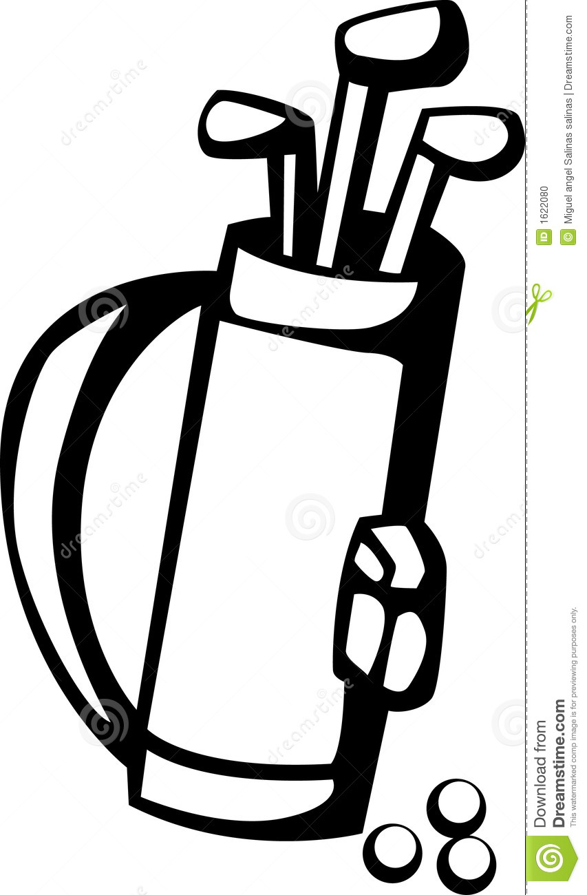 golf club clip art black and white