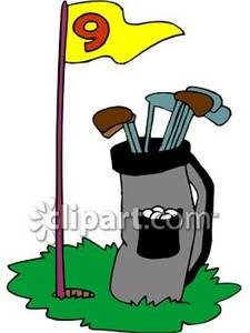 Golf Bag Sketch Clipart Party Backgrounds