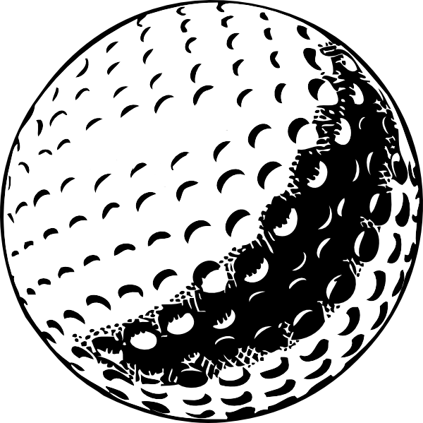 Golf ball clipart 4