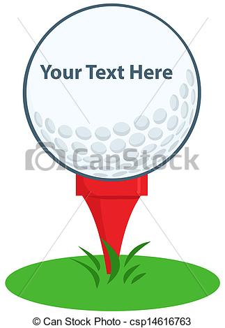 Golf Ball Tee Sign Cartoon . - Golf Tee Clip Art
