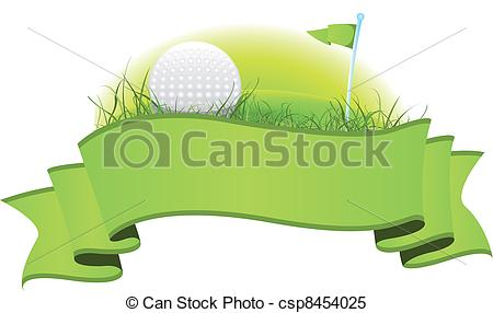 Golf Banner - Illustration of a green go-Golf Banner - Illustration of a green golf banner with... Golf Banner Clipart ...-13