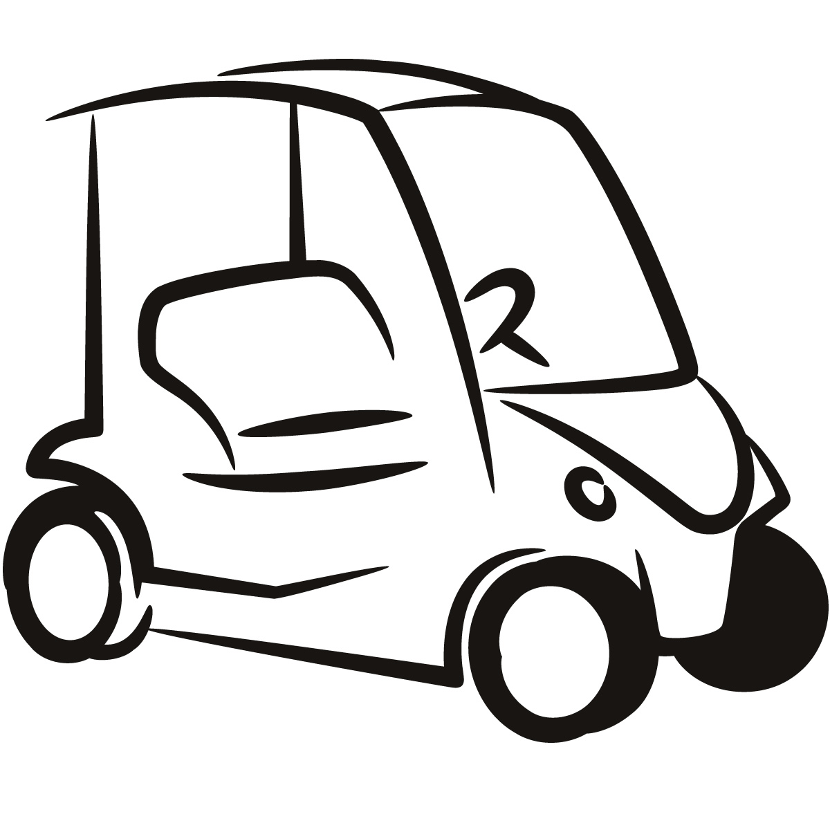 Golf Cart Clipart - Clipart .
