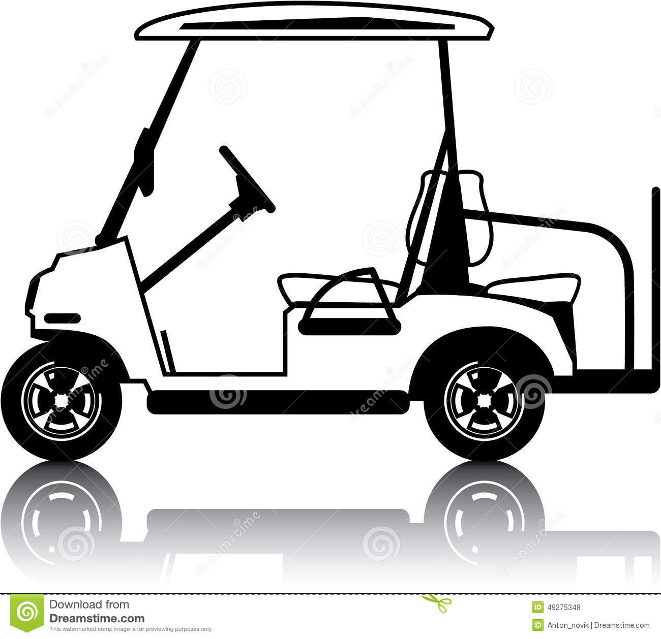 Golf Cart White-Golf Cart white-4