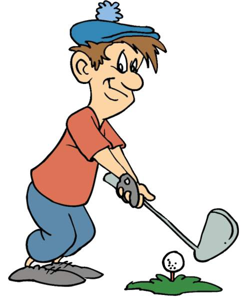 Clipart Hitting Golf Ball Out