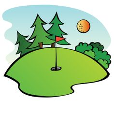 A Golf Course, Created For The Sports 20-A golf course, created for the Sports 2010 Clip Art Package Release.-2