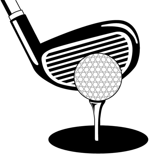Area clipart: Golf clip art black and wh-Area clipart: Golf clip art black and white-8