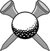 Golf Club and Ball Clip Art   Golf - stock illustration clip art. Buy royalty