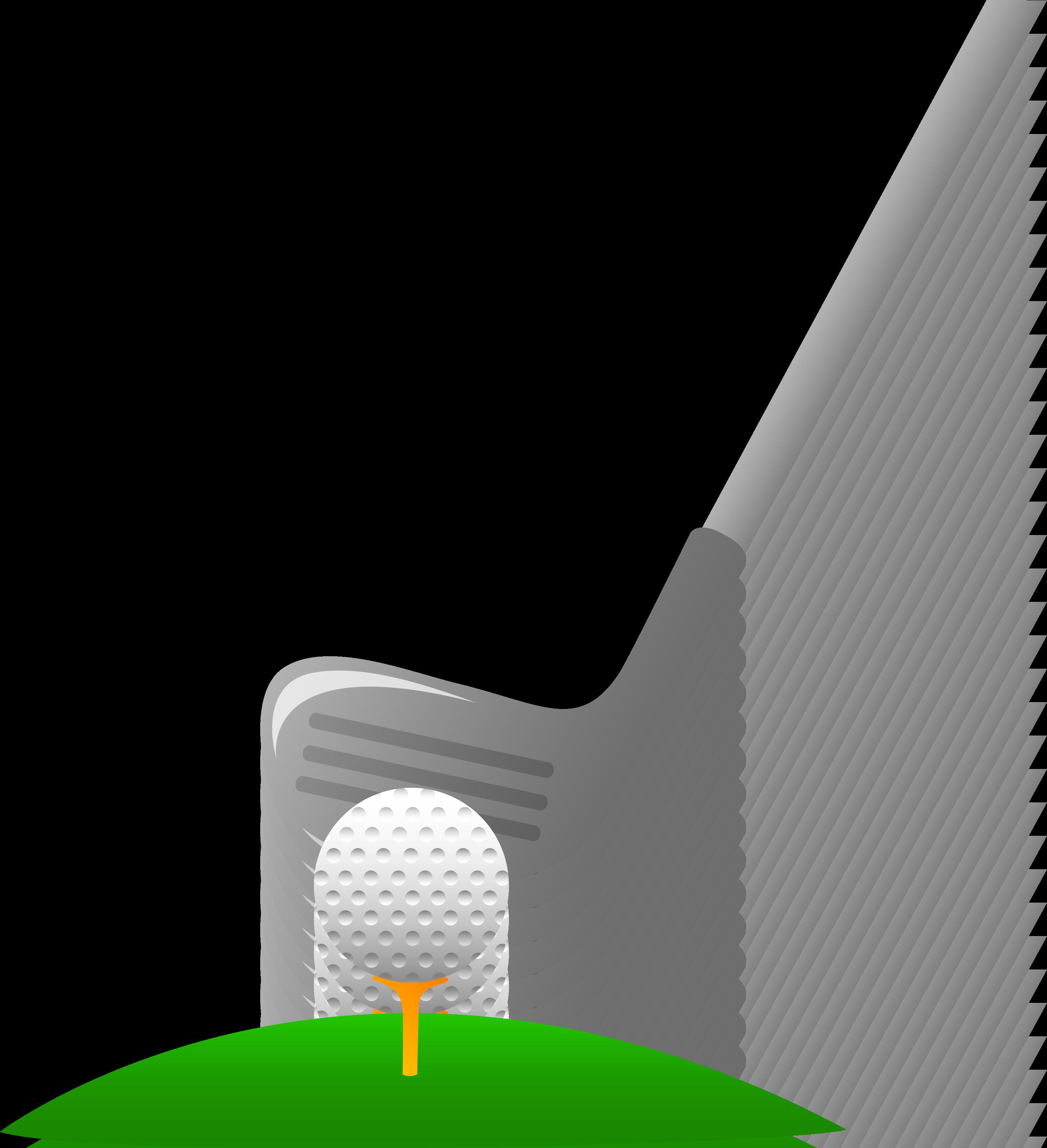 Golf Club And Ball Clipart #1
