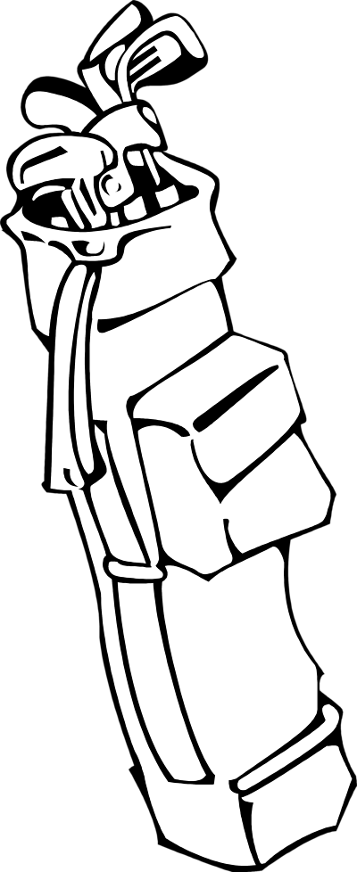 Golf Club Bag Clip Art | Clip - Golf Bag Clipart
