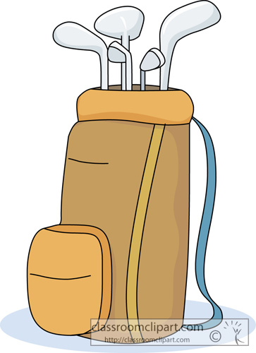 Golf Club Bag Clip Art Golf . - Golf Bag Clipart