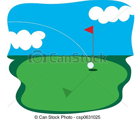 ... Golf Course - Golf ball going into a hole in one