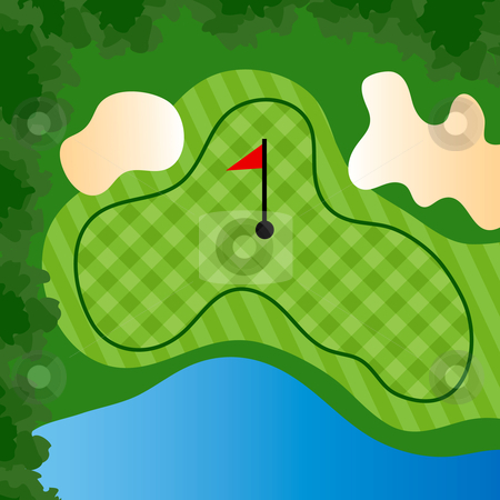 Golf Course Hole Stock