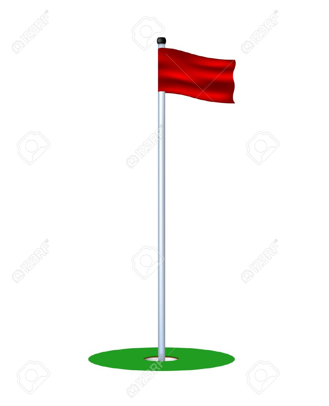 Golf Flag: Golf Hole-golf flag: Golf hole-9