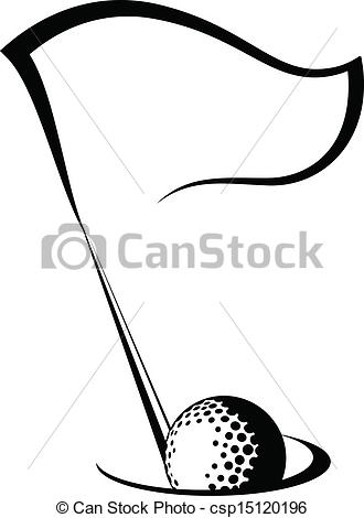 Golf Flag With Ball In .-Golf Flag with Ball in .-12