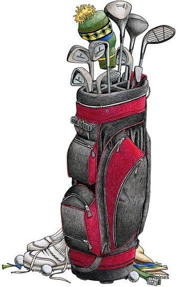 Golf - Golf Bag Clipart