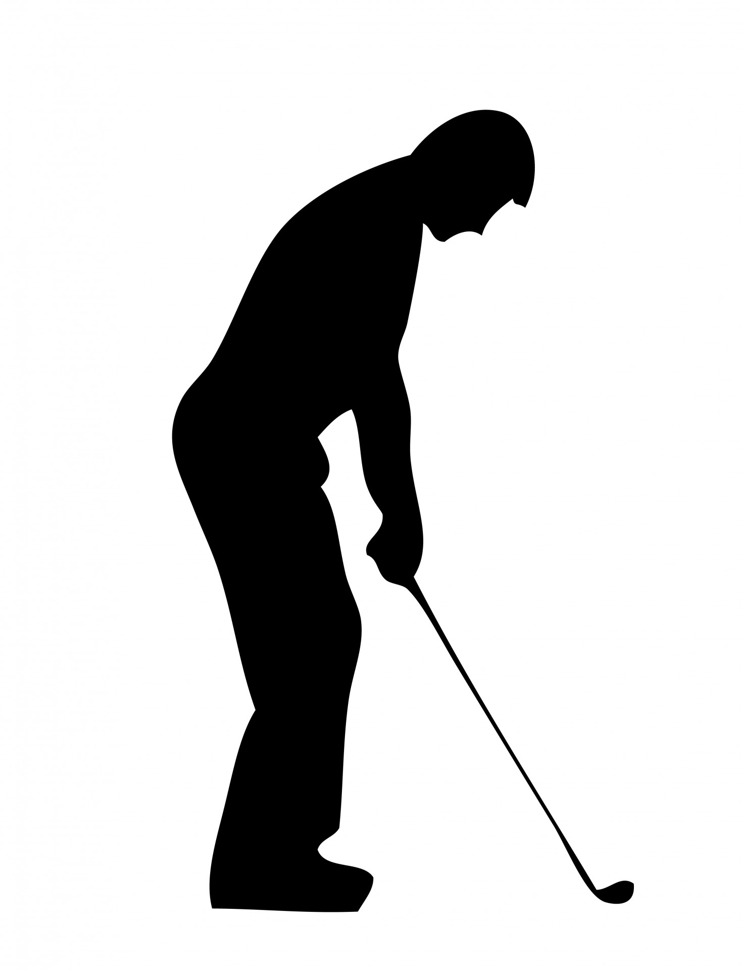 Golf Player Silhouette Clipart Free Stock Photo Hd Public Domain
