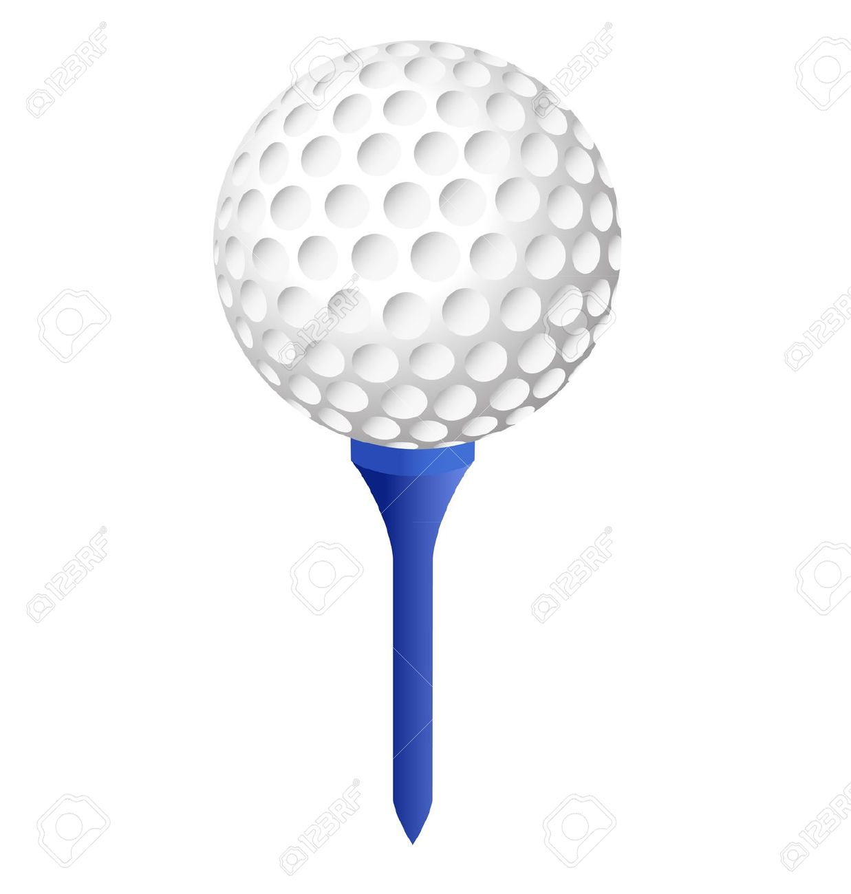 Golf Ball Tee Sign Cartoon .