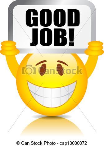 Good Job Smiley Vector Good J - Good Job Clip Art