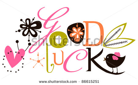 Good Luck Script Card Stock Vector Illustration 86615251