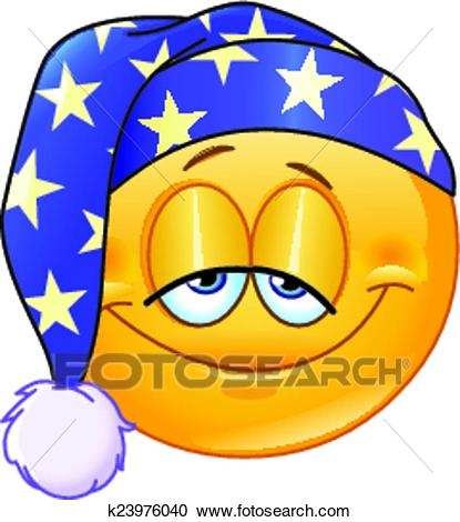 Clipart - Good night emoticon. Fotosearch - Search Clip Art, Illustration  Murals, Drawings
