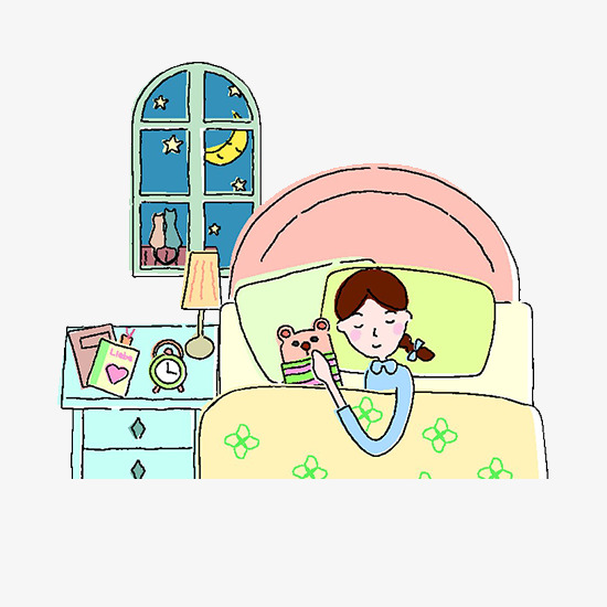 good night sleep cartoon girl, Cartoon, Cartoon Girl, Cartoon Sleeping PNG  Image and