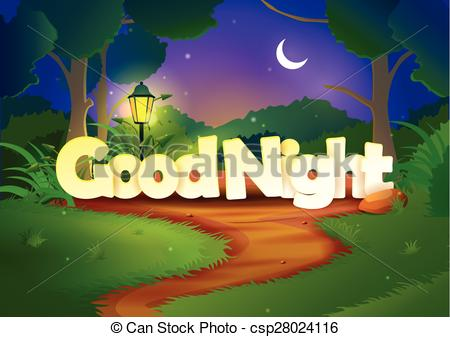 Good Night wallpaper background - csp28024116