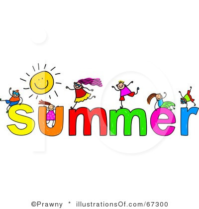 Good Shepherd Catholic School Royalty Free Summer Clipart Illustration